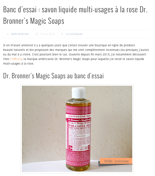 L'Officina - Dr. Bronner's Magic Soaps