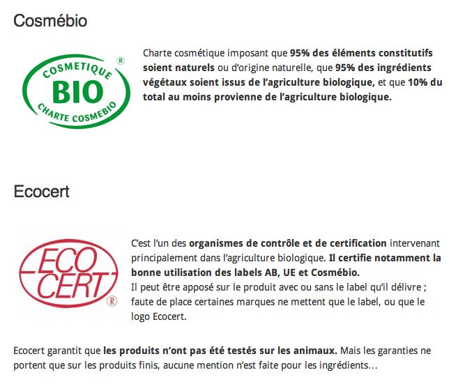 Les labels bio, écolos, équitables, non testés sur animaux…
