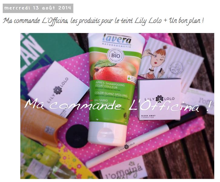 Revue de la commande à l'Officina - par Aventures d'une Bruxelloise, Lily Lolo