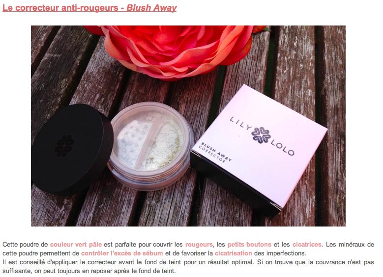 Lily Lolo - maquillage minéral - Correcteur Minéral Anti-Rougeurs Blush Away