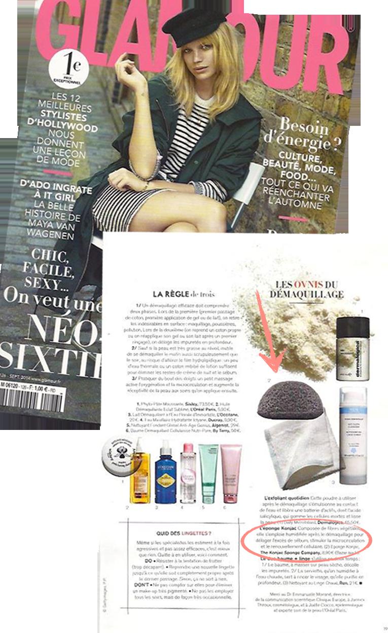 Le geste beauté indispensable: purifier la peau avec l'éponge Konjac - Glamour Paris septembre 2014