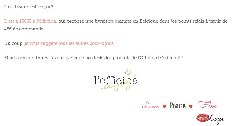 l'Officina Paris - magasin en ligne de cosmétiques naturels et bio