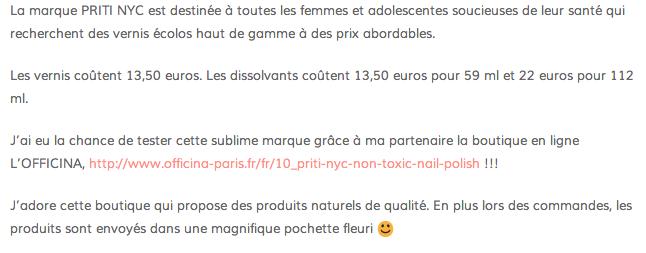 revue Priti NYC - vernis à ongles non toxiques
