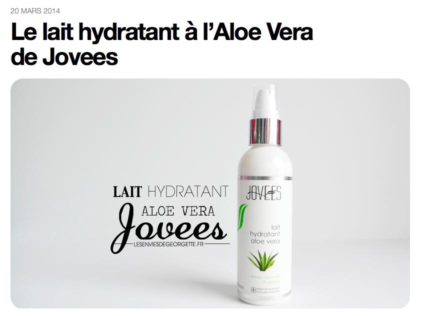 Joveda - Lait Hydratant à l'Aloe Vera