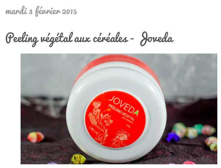 Joveda - Peeling Végétal aux Céréales (petit format 100g)