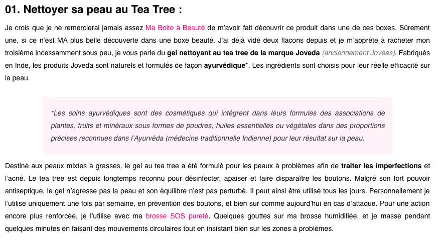 Joveda - Gel Nettoyant au Tea Tree