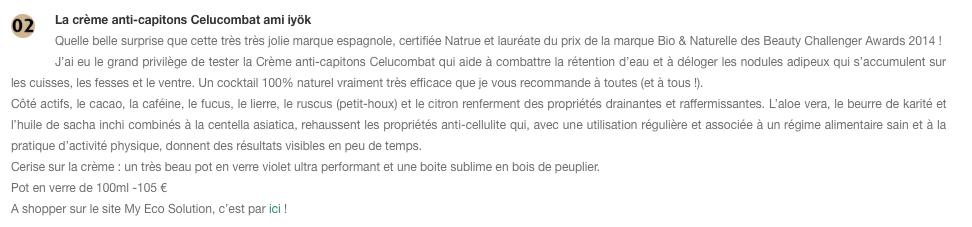 La crème anti-capitons Celucombat Ami Iyök dans les alliés minceur 100% naturels sur Forevergreen