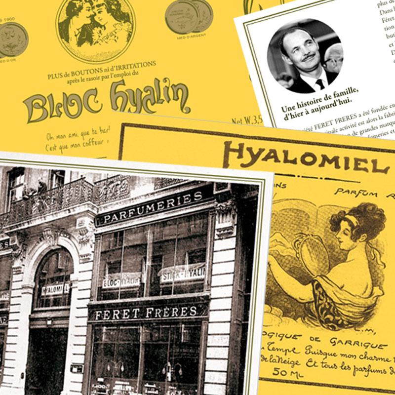 Féret Parfumeur Hyalomiel Bloc Hyalin rétro vintage beauté naturelle France