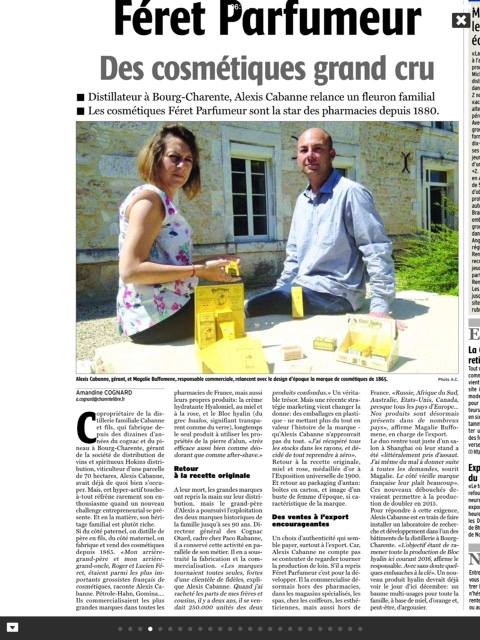 Charente libre du 23 Juin 2015 - Des Cosmétiques grand cru..