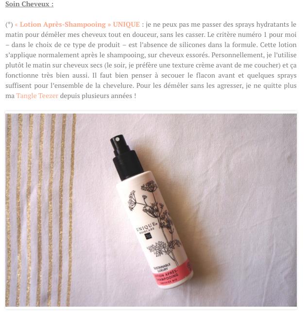 Unique Haircare - Lotion Après-Shampooing bleuet (spray)