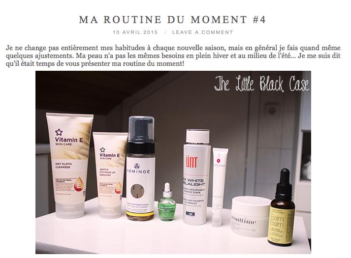 Les deux soins visage bio, la Mousse Nettoyante Visage NOMINOË et le Sérum de Rose Musquée BALM BALM sont dans la Routine Beauté du Moment de The Little Black Case! Enjoy! Les deux produits sont disponibles sur le site de l'Officina Paris: