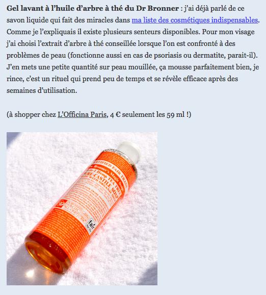 Le Savon Liquide bio au Tea Tree Dr. Bronner's chez Lazy Veggie à Paris