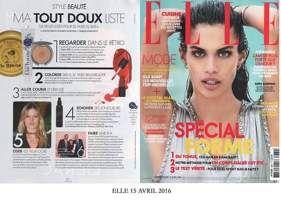Féret Parfumeur le Baume rose poudrée magazine Elle