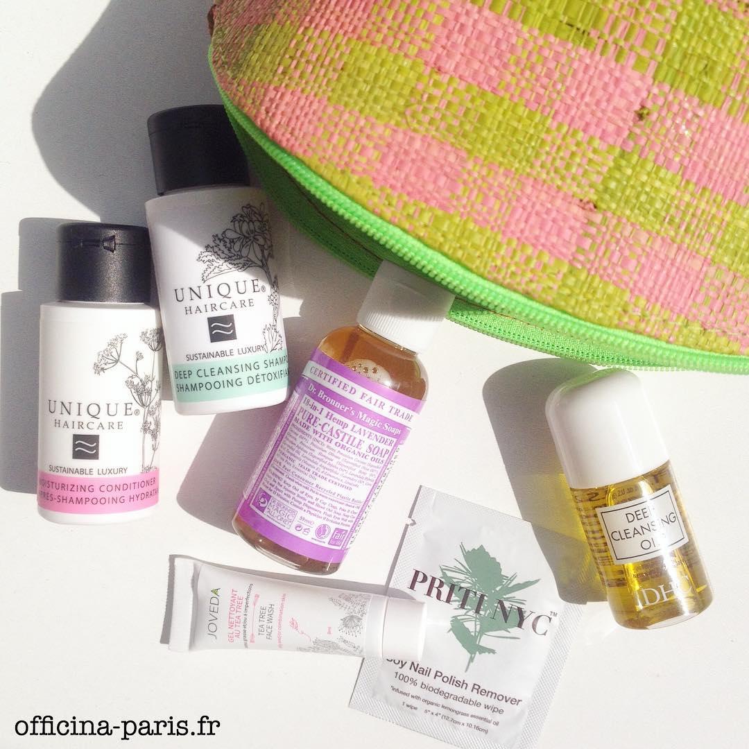 l'Officina Paris cosmétiques naturel bio Mini produits beauté green
