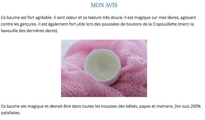 """""""La Crapouillette"""" à la Découverte de l'Officina - Baume bébé bio sans parfum BALM BALM"""