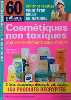 LesSavons bio Dr. Bronner's sont recommandés dans le hors-série Cosmétiques non-toxiques - Le Guide des Produits sains et sûrs de60 millions de consommateurs
