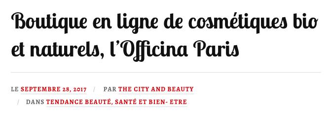 L'Officina Paris - cosmétiques bio et naturels MADARA, LILY LOLO, UNIQUE Haircare