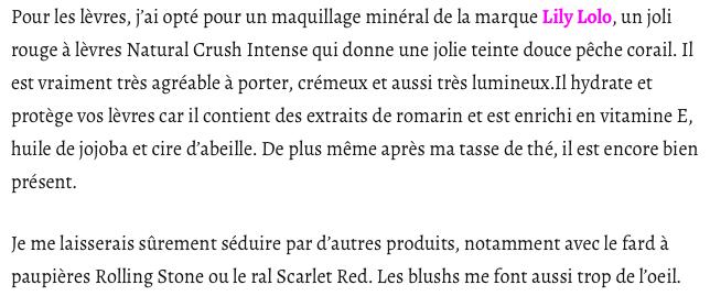 LILY LOLO - maquillage minéral Rouge à Lèvres Naturel