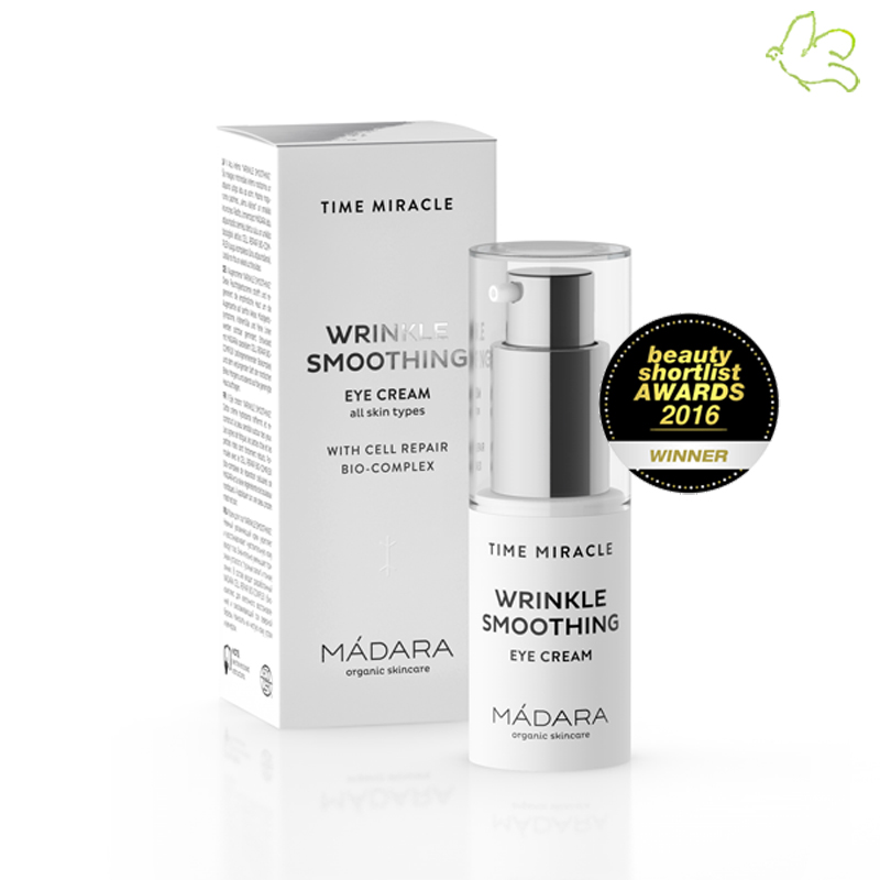 Madara cosmétique bio Anti âge Time Miracle Crème Contour des Yeux Wrinkle Smoothing Eye Cream