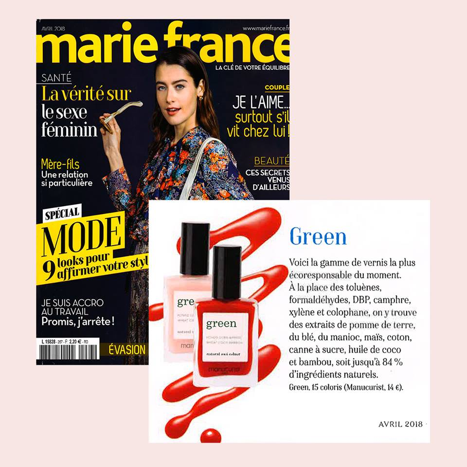 Vernis Green Manucurist dans Marie France