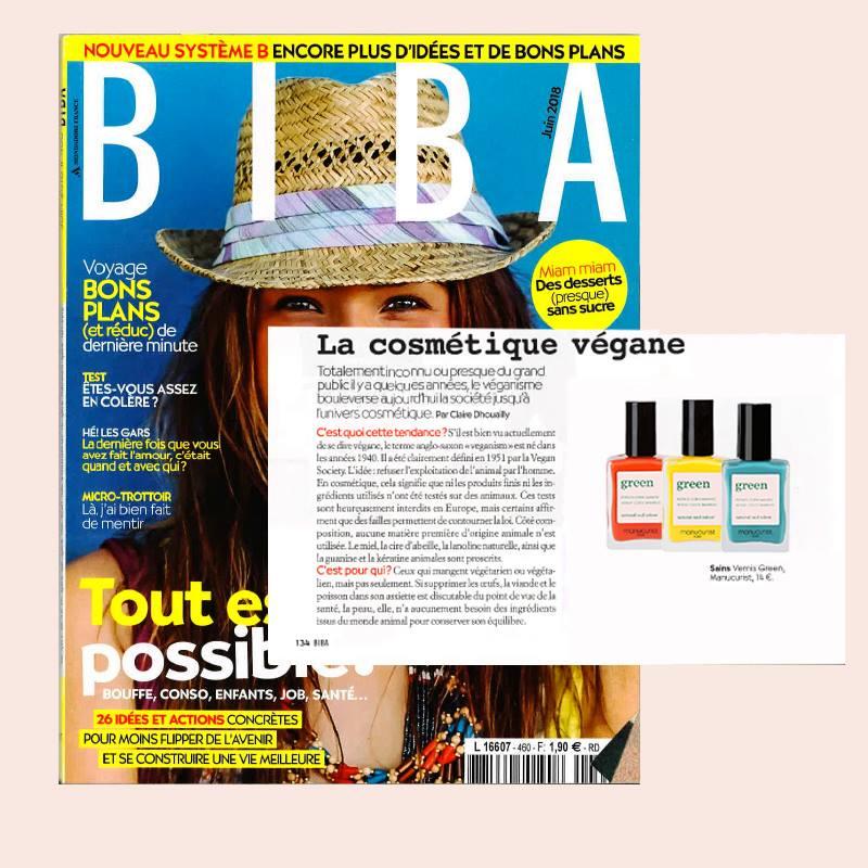 La cosmétique dégante: Vernis à Ongles GREEN Manucurist dans Biba