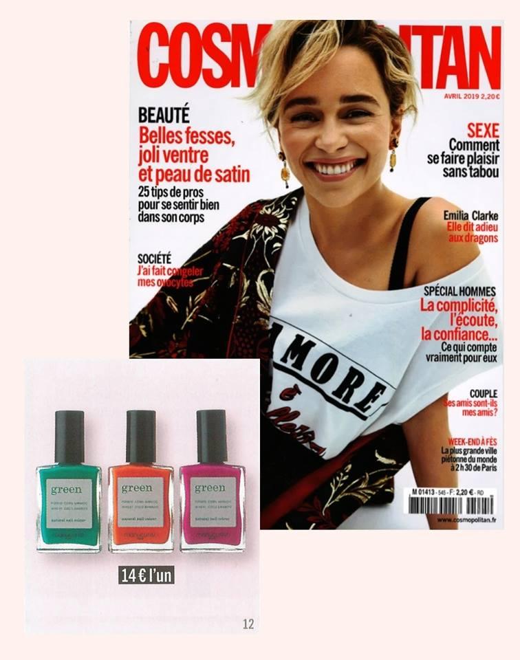 Couleurs de l'été! La collection Green Manucurist dans Cosmopolitan