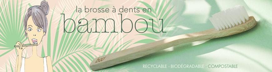 Brosse à Dents écologique en Bambou recyclable, compostable, biodégradable BOO