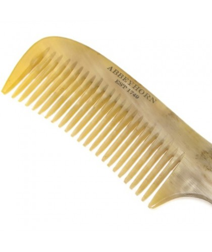ABBEYHORN Horn Comb single tooth with handle (19 cm)