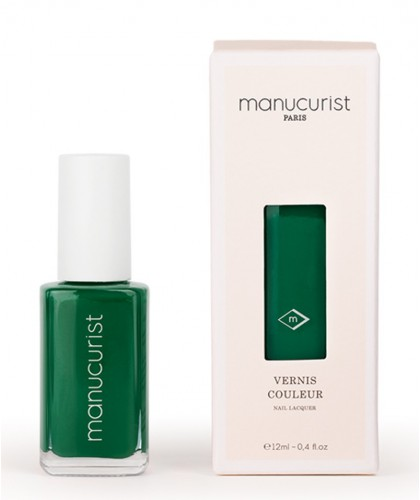 MANUCURIST Nail Polish UV Green N°3 swatch vegan cruelty free made in France