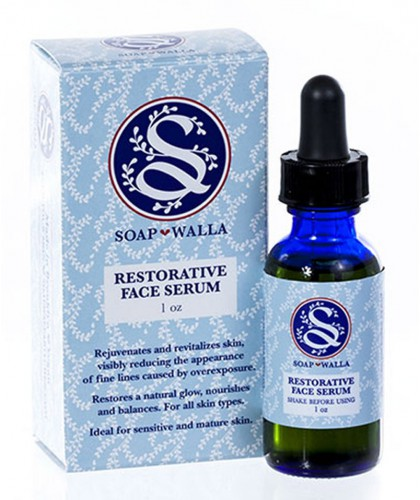 Soapwalla Organic Restorative Face Serum sensitive skin dry natural