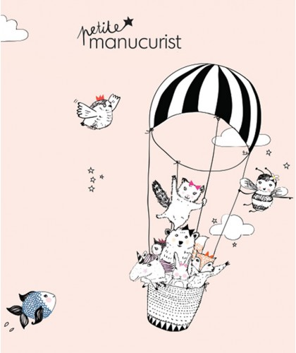 Kid Safe Nail Polish Petite Manucurist non toxic shimmery baby pink ROSIE the Rabbit