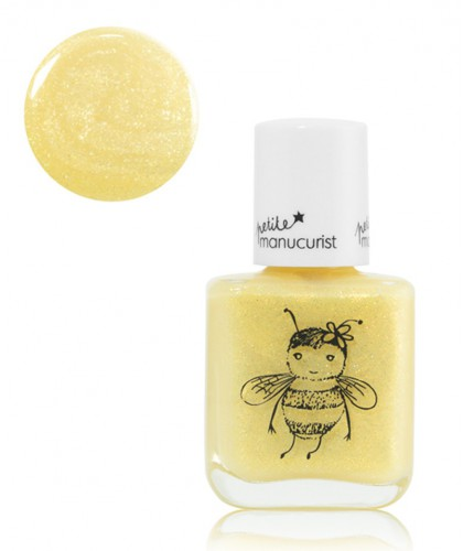 Kid Safe Nail Polishes Petite Manucurist Box of 3 PIA Shimmery yellow gold Made in France