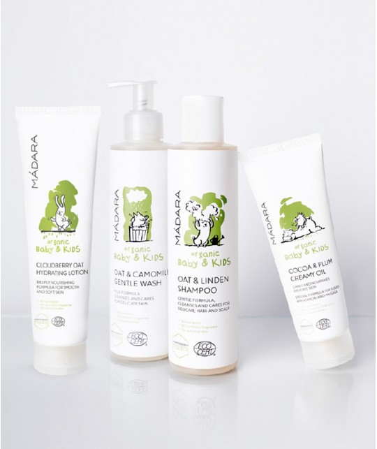 MADARA Oat & Camomile Gentle Wash Baby & Kids Waschgel Naturkosmetik