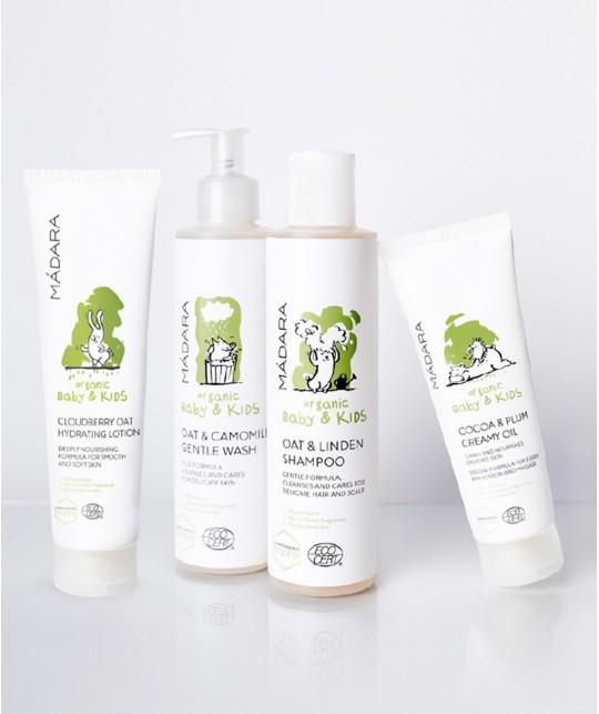 MADARA Shampooing bio doux Bébé & Enfants Avoine & Tilleul