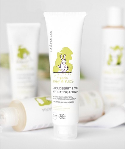 MADARA organic skincare - Cloudberry & Oat Hydrating Lotion Baby & Kids organic cosmetics