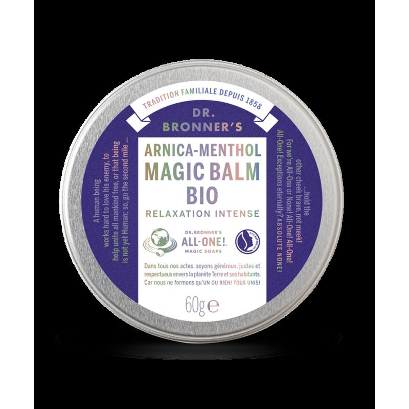 DR. BRONNER'S - Magic Balm Bio Arnica Menthol 100% naturel boite métallique apaisant