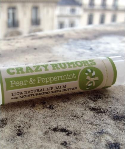 Crazy Rumors Natural Lip Balm Pear & Peppermint