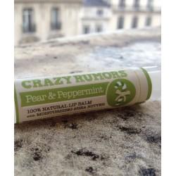 Crazy Rumors - Baume Lèvres Naturel Poire & Menthe Poivrée