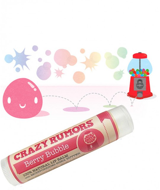 CRAZY RUMORS Natural Lip Balm Berry Bubble