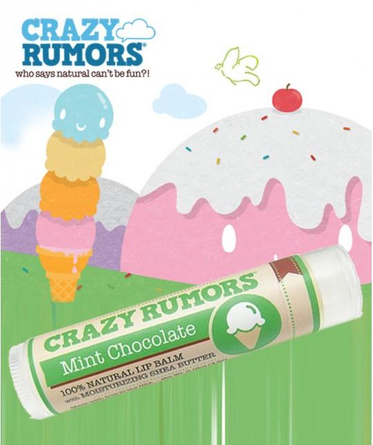 Crazy Rumors - Baume Lèvres Naturel Chocolat Menthe