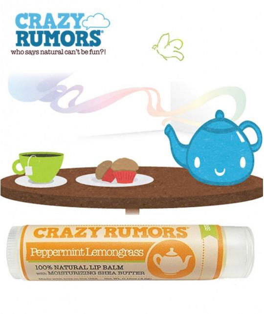 Crazy Rumors - Baume Lèvres Naturel Menthe Poivrée Citronnelle