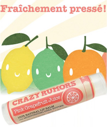 CRAZY RUMORS - Natural Lip Balm Pink Grapefruit