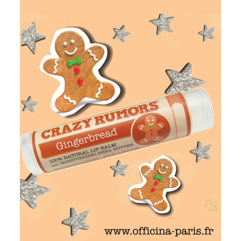 Crazy Rumors soin lèvres naturel cruelty free & vegan pain d'épices