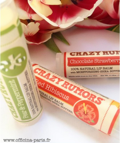 CRAZY RUMORS Natural Lip Balm Red Hibiscus