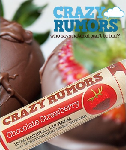 CRAZY RUMORS Natural Lip Balm Chocolate Strawberry