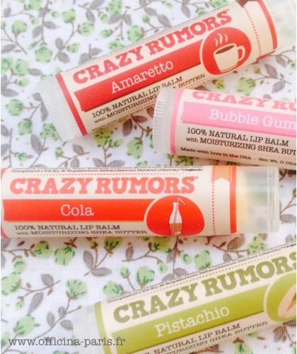 Crazy Rumors Natural Lip Balm Amaretto cruelty free vegan