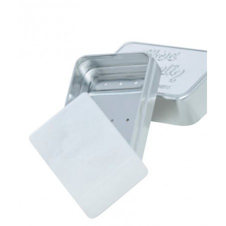Boite métallique pour Bloc Hyalin Féret Parfumeur -Pierre d'Alun naturelle
