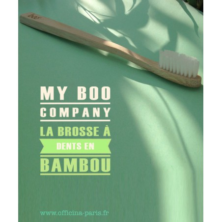 My BOO Company - Brosse à Dents recyclable compostable en Bambou poils medium nylon sans BPA certifié FSC