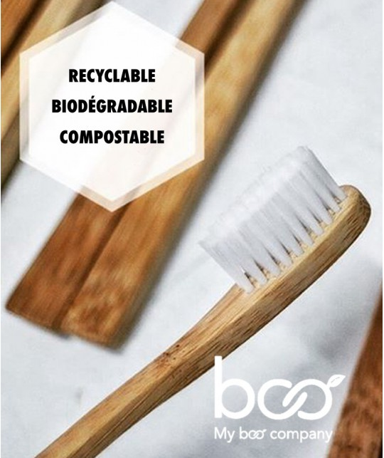 My BOO Company - Brosse à Dents recyclable en Bambou Adulte (medium)