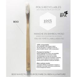 My Boo Company - Brosse à Dents recyclable en Bambou - Enfant (souple)